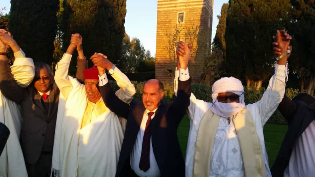 Awlad Suleiman, leader of Tebu tribe, Gen. Senousi Masoud Zaid, Vice President Abdulsalam Kajman, Sultan Zillaei Mina Salah, leader of Tebu tribe